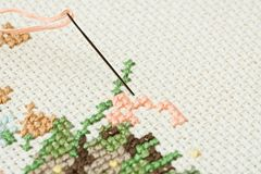 Embroidery. Stock Photo