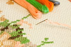 Embroidery. Royalty Free Stock Photo