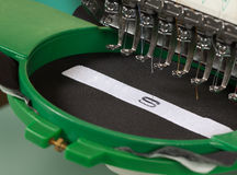 Embroidery. Textile embroidery machine in Textile Industry Royalty Free Stock Photos