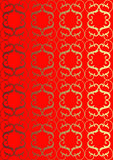Embroidery. Bright, red ornament for an ornament of any surface Royalty Free Stock Images