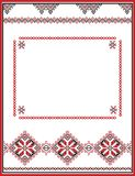 Embroidery abstract template frame for your Royalty Free Stock Photos