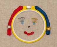 Embroidery accessories Stock Images