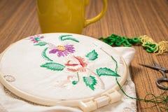 embroidery Acessórios Sewing foto de stock