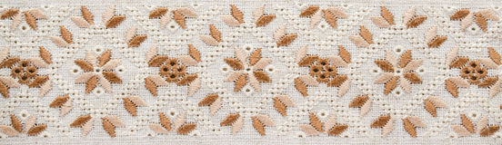 Embroidery background. Embroidery pattern for banner. Royalty Free Stock Photography