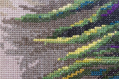 Embroidery background Stock Image
