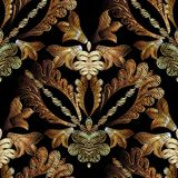 Embroidery baroque vector seamless pattern. Gold floral grunge d Royalty Free Stock Photos