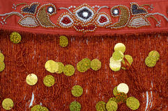 Embroidery with beads and sequins Royalty Free Stock Photo