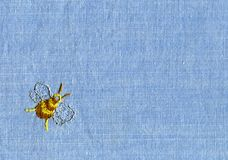 Embroidery of bee Stock Images