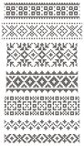 Embroidery, borders Stock Images