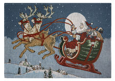 Embroidery christmas place mat Stock Photo