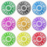 Embroidery circle ornament Royalty Free Stock Images