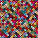 Embroidery or colored fabric pattern texture repeating seamless. Embroidered seamless geometric pattern. Ornament for the carpet