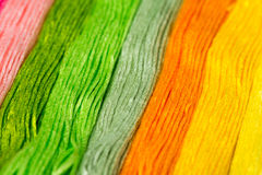 Embroidery colorful thread texture background Royalty Free Stock Image
