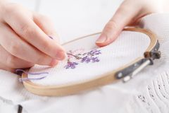 Embroidery and cross stitch accessories. royalty free stock image