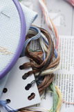Embroidery (cross stitch) Stock Images