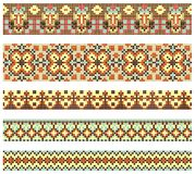Embroidery cross-stitch pattern. Embroidered good like handmade cross-stitch ethnic Ukraine pattern Royalty Free Stock Photos