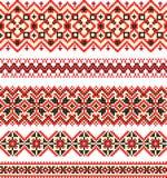 Embroidery cross-stitch pattern Stock Photography