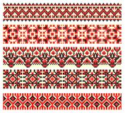 Embroidery cross-stitch pattern Royalty Free Stock Photo