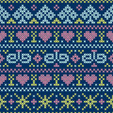 Embroidery cross-stitch style Royalty Free Stock Photo