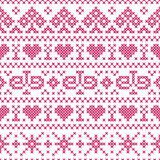 Embroidery cross-stitch style Royalty Free Stock Photos