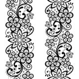 Lace seamless vector pattern, repetitive ornamental textile or embroidery design in white on gray background stock photos