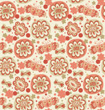 Embroidery. Decorative seamless floral pattern. Re Stock Photo