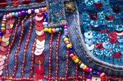 Embroidery Detail Royalty Free Stock Images