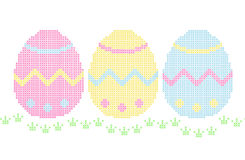 Embroidery - easter eggs Stock Image
