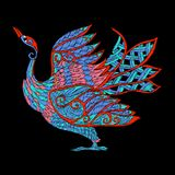 Embroidery. Embroidered design element - bird - in vintage style Stock Photography