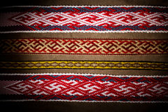 Embroidery ethnic pattern viking material.  Royalty Free Stock Image