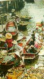 Embroidery floating market Royalty Free Stock Images