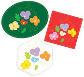 Embroidery floral applique Royalty Free Stock Photo