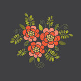 Embroidery floral design royalty free illustration
