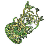 Embroidery floral design Stock Photos