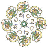 Embroidery floral design Stock Photo