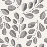 Embroidery floral seamless pattern on linen cloth texture royalty free stock photography