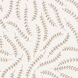 Embroidery floral seamless pattern on linen cloth texture stock photos