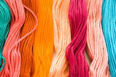 Embroidery floss Royalty Free Stock Image