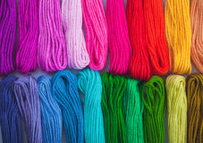 The embroidery floss Royalty Free Stock Images