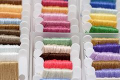 Embroidery floss sorting box Stock Photo