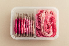 Embroidery Floss Storage Royalty Free Stock Images