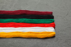 Embroidery floss (threads) Stock Photos