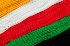Embroidery floss (threads) Stock Images
