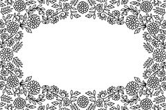 Embroidery flower frame Stock Photography