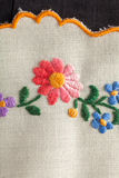 Embroidery with flowers Stock Photo