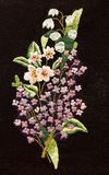 Embroidery, folk arts and crafts, handmade. Folk embroidery, Handmade embroidery, art stock image