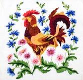 Embroidery, folk arts and crafts, handmade. Folk embroidery, Handmade embroidery, art royalty free stock image