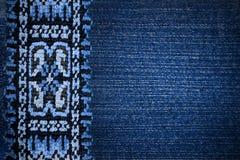 Embroidery folk motifs. Cross-stitch in the folk style Royalty Free Stock Image