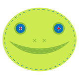Embroidery in the form of a frog. Vector illustration of embroidery in the form of a frog Stock Photos