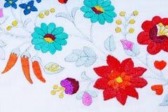 embroidery Foto do close up dos retalhos do handwork do passatempo do trabalho de mão Foto de Stock